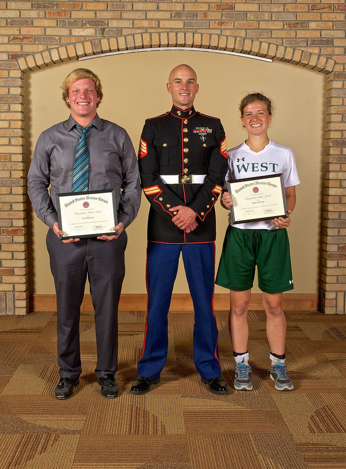 2014 Zeeland West U.S. Marine Corps Distinguished Athlete Award Winners