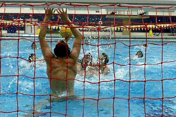 Zeeland goalie with a save on West Ottawa