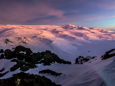 Sunrise on the crater rim. As great as this photo looks, it just doesn't do the real scene justice.