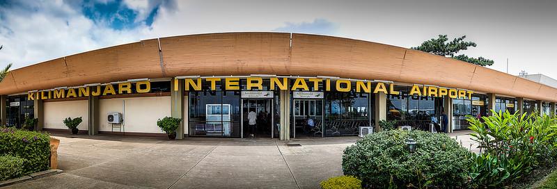 Kilimanjaro International Airport. A three shot quick pano.