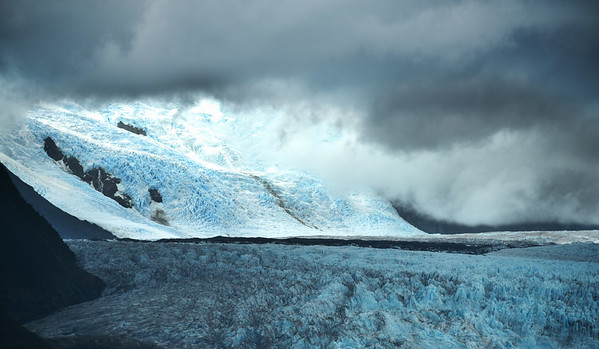 Chilean Glacier Pointing To Heaven