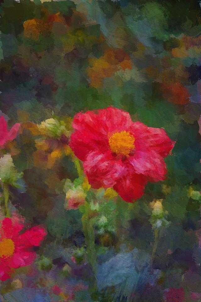 Monet's Red Dahlia