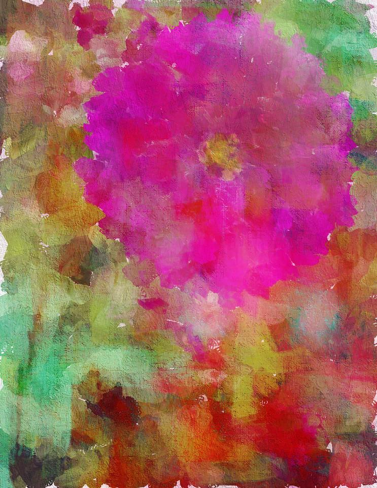 Monet's Pink Dahlia
