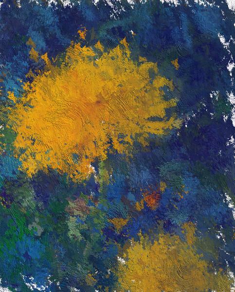 Monet's Yellow Dahlias