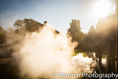 """Steam at Sunrise"""