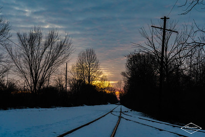 Looking west near the end of current trackage in Urbana, OH