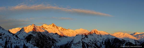 Großglockner (3.798 m) im letzten Licht - Kals, Osttirol, Österreich Nationalpark Hohe Tauern