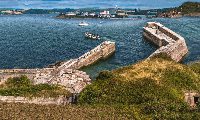 A View from Fort Camden, near Cobh, County Cork Ireland.
