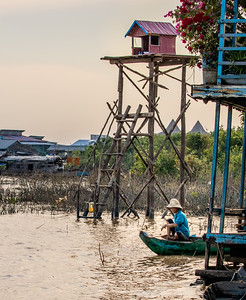 "Visiting a Spirit House - ""Floating Village"" - Siem Reap River, Cambodia"