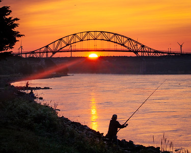 First Rays of Sunlight on the Cape Cod Canal