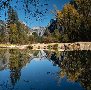 Yosemite Reflections in the Merced River