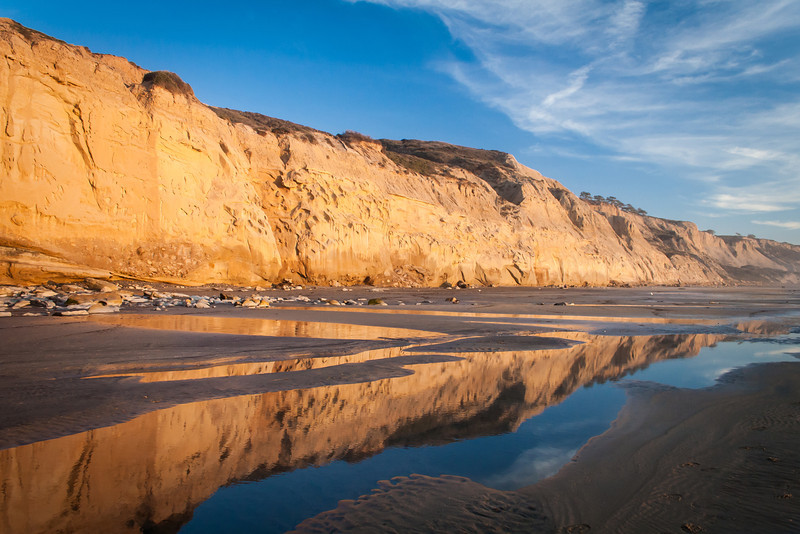 Torrey Pines Sunset at Low Tide 1