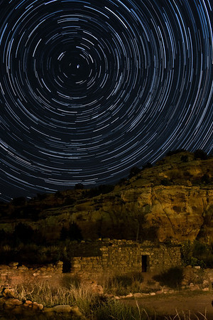 Sue's Ruin Star Trails