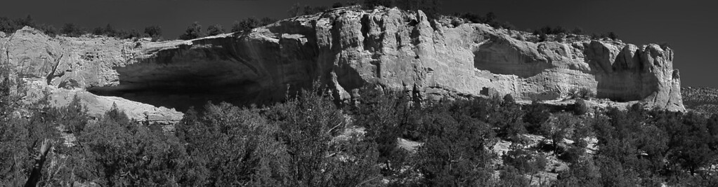 Prints UnavailableBlack and white panorama of Sand Canyon