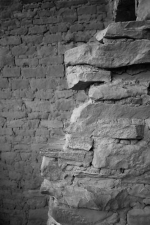 Remains of a wall, Cliff Palace, Mesa Verde