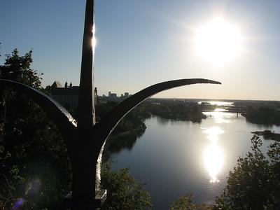 Riviere Outaouais depuis colline du parlement, Ottawa, Ontario, Canada
