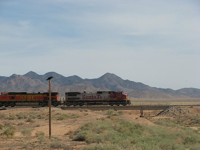 Burlington Northern and Santa Fe Railway, quelque part en Arizona