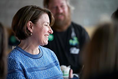 Democratic presidential candidate Amy Klobuchar speaks at Able Brewing in Minneapolis, Minnesota - June 30.
