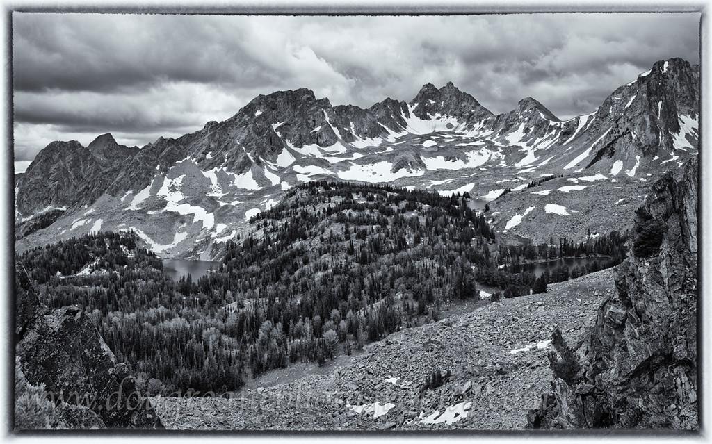 South Hilgard Basin, with Hilgard Peak, Painted, Hilgard, and Talus Lakes, Lee Metcalf Wilderness, MT