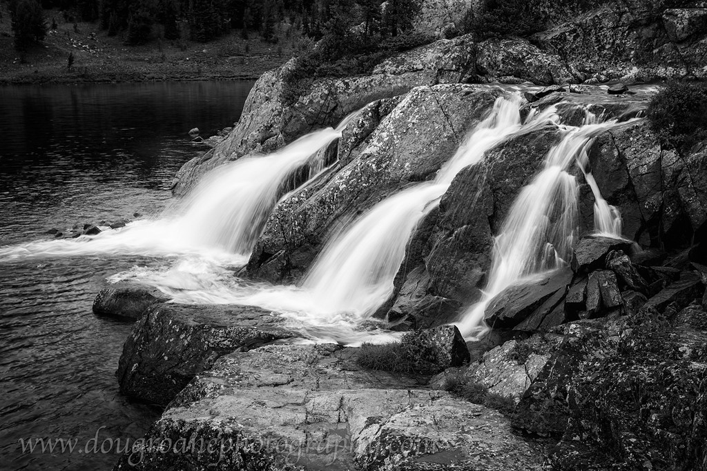 Falls at Spogen Lake, Martin Lake Basin, Absaroka-Beartooth Wilderness