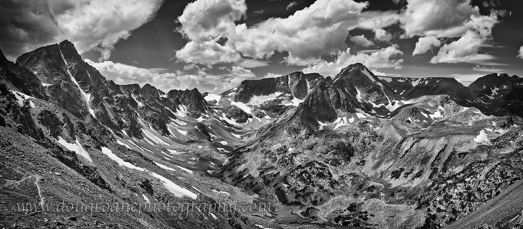 View from the Summit of Sundance Pass, Absaroka-Beartooth Wilderness