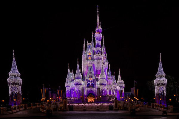 Cinderella's Castel at Night - Walt Disney Fl