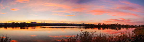 Waneka Lake Sunset, Lafayette, CO