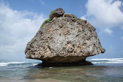 Rock formation, Barbados,  25 November 2015