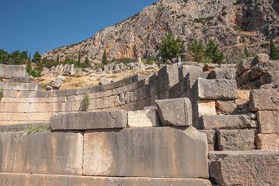 Ancient ruins, Delphi, Greece 25 August 2009