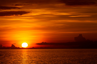 Sunset, Flores, Indonesia 25 November 2011