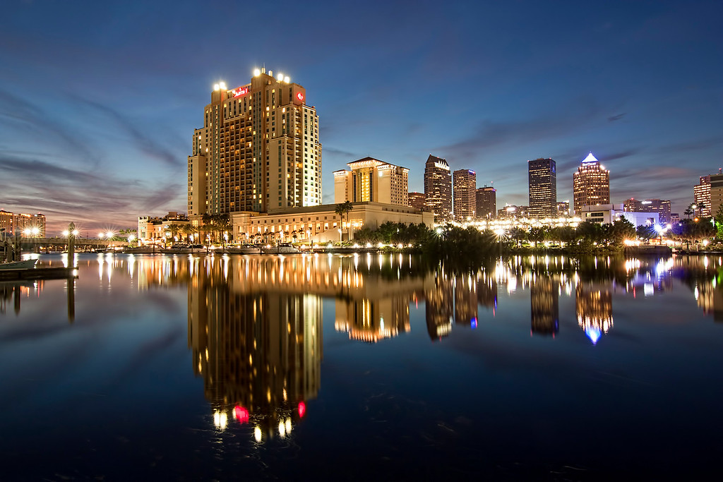 Tampa Florida from Harbor Island