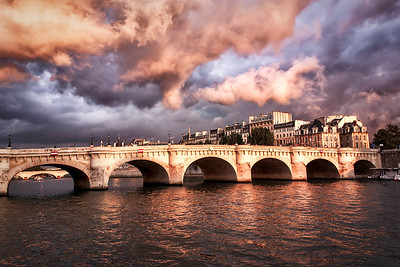 Storm Over Pont Neuf, Paris