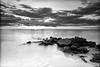 Naples beach 2220 bw