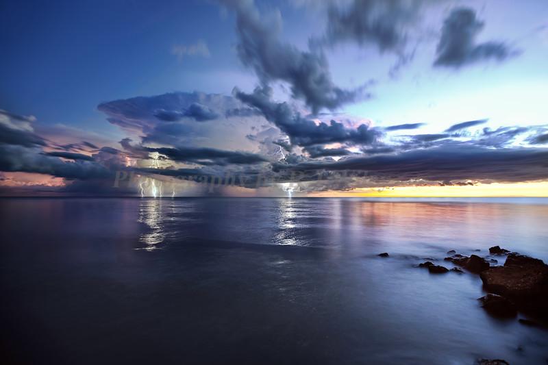 Lightning Naples beach 2591