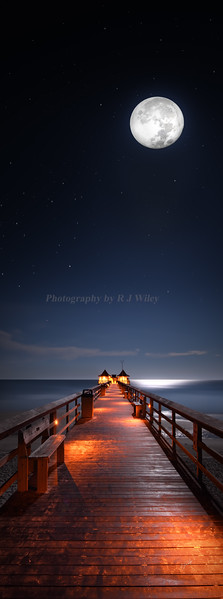 Naples Pier super moon 3167