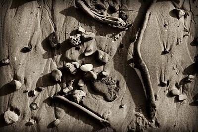 Rocks and Sand sepia