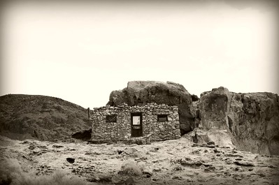 Miner's home sepia