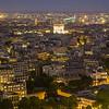 Eiffel Tower Night View: Northwest
