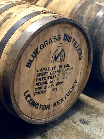 Barrels Aging at Bluegrass Distillers