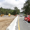 Cars leaving Pebble Beach as well as cars traveling south bound on Hwy 68 towards Monterey have to travel South bound into Carmel before heading North due to the Hwy 68 roundabout construction on Tuesday, April 25, 2017 in Monterey, Calif. Access from Pebble Beach to Northbound 1 has been closed. (Vernon McKnight/Herald Correspondent)