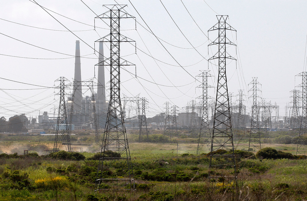 . Looking over the East side of the Moss Landing Power Plant on Tuesday, May 1, 2018 which is the location for the Deep Water Desal Plant.  (Vern Fisher - Monterey Herald)