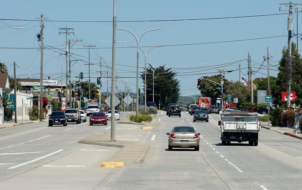 . North Fremont Street in Monterey on Thursday, May 3, 2018.  (Vern Fisher - Monterey Herald)