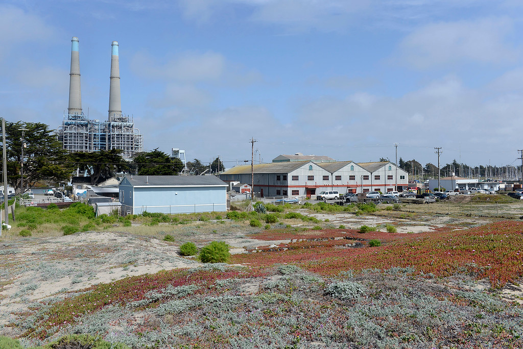 . Looking over the Deep Water Desal offices on Sandholdt Road in Moss Landing on Tuesday, May 1, 2018.  (Vern Fisher - Monterey Herald)