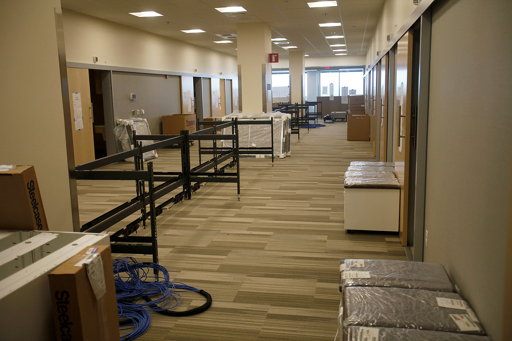. Office space at the new VA/DoD Outpatient Clinic in Marina on Thursday, April 13, 2017.  (Vern Fisher - Monterey Herald)