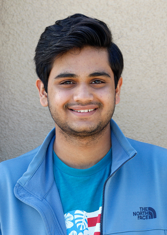 . Ahad Anwar, a Pakistani exchange student at Monterey High on Thursday, April 13, 2017.  Anwar is on a mission to talk about his country and erase stereotypes.  (Vern Fisher - Monterey Herald)