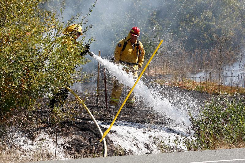 Grass fire Highway 68