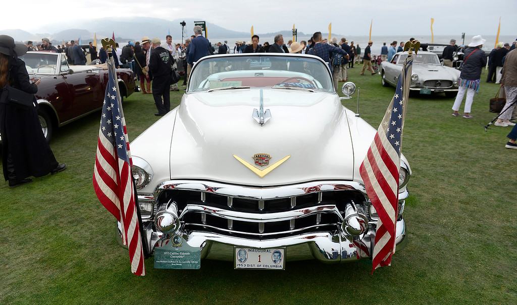 . A 1953 Cadillac Eldorado Convertible at the Pebble Beach Concours d\'Elegance on Sunday, August 26, 2018.  (Vern Fisher - Monterey Herald)