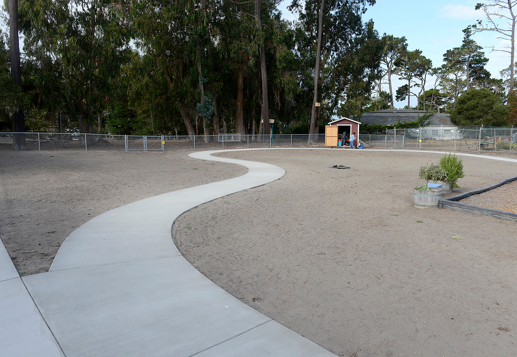 . The playground area of the new Pacific Grove Adult Education Child Development Center in Pacific Grove on Wednesday, August 29, 2018.  (Vern Fisher - Monterey Herald)