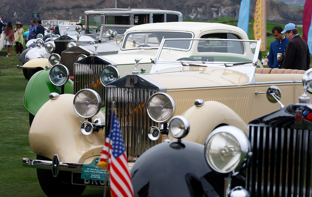 . Part of the classic car collection of His Highness Maharaja Gai Singhji of Marwar-Jodhpur at the Pebble Beach Concours d\'Elegance on Sunday, August 26, 2018.  (Vern Fisher - Monterey Herald)