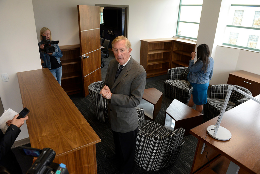 . Dean Flippo, Monterey County District Attorney tours the newly refurbished Monterey County Courthouse on Tuesday, August 7, 2018.  (Vern Fisher - Monterey Herald)